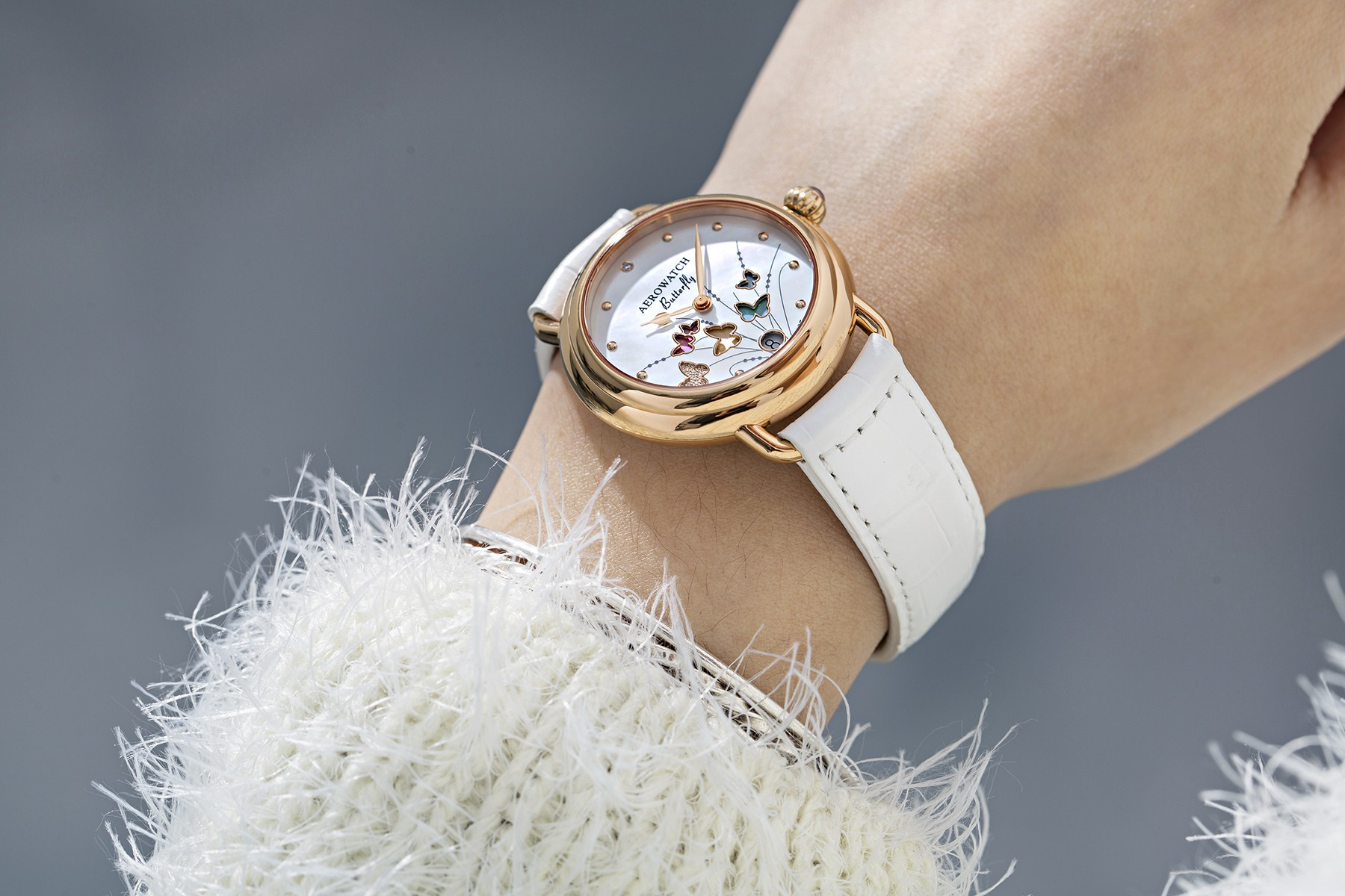 Aerowatch 1942 Butterfly Limited Edition Lady