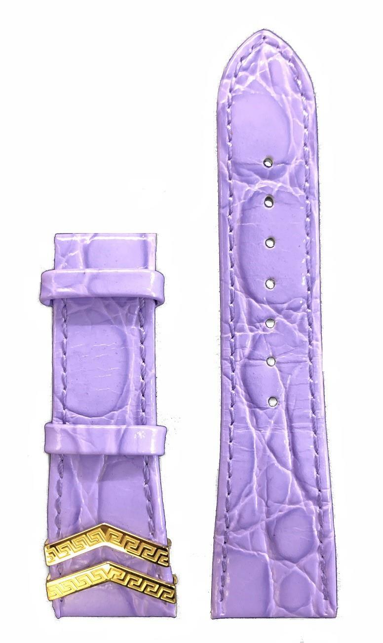 Bracelet cuir 23 mm pour montres Versace DV 25