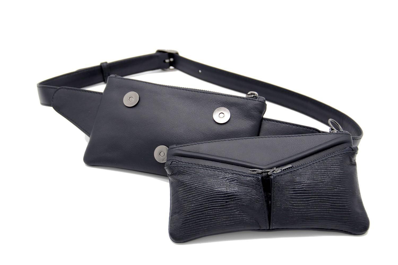 "Jessica Cohen Sac ceinture ""Origame"" modulable Rock'n Rhombus, bleu marine"