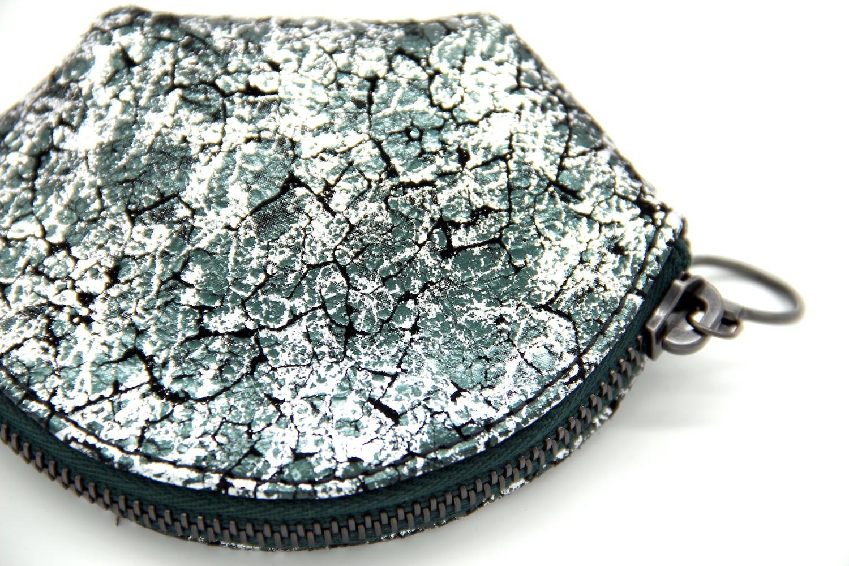 Jessica Cohen Porte-monnaie, vert et argenté