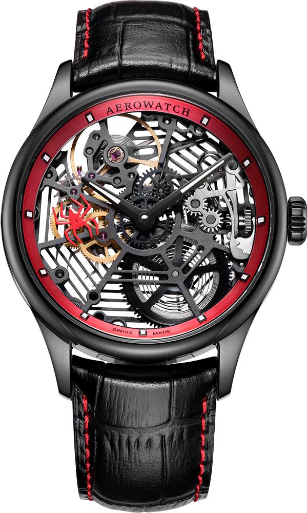 Montre Aérowatch Squelette Spider Rouge