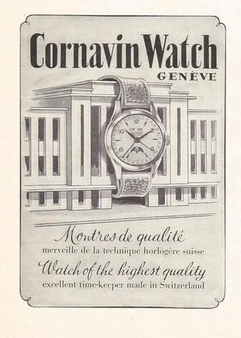 Cornavin watches 1953_advert